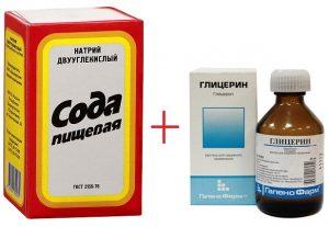 сода и глицерин
