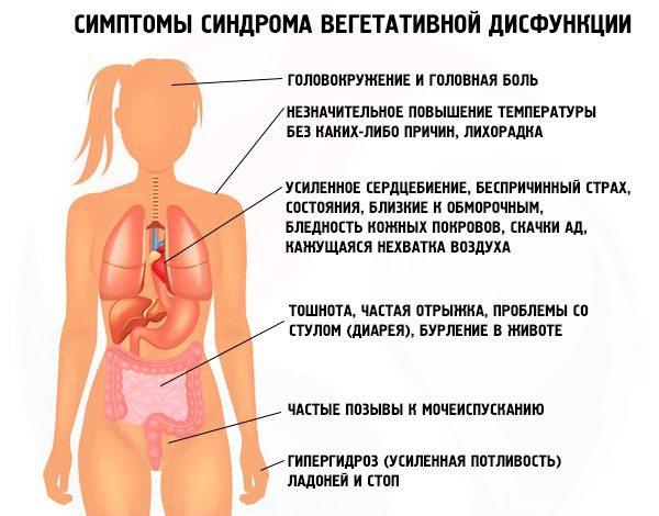 вегетососудистая дистония симптомы
