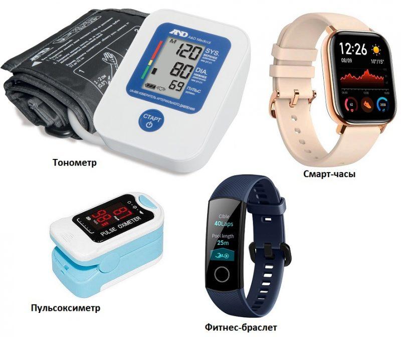 тонометр.фитнес-браслет.пульсометр и смарт-часы