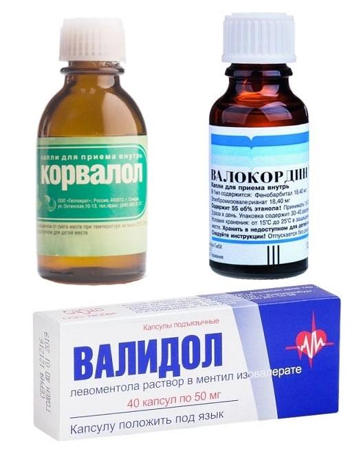 Корвалол, Валокордин и валидол